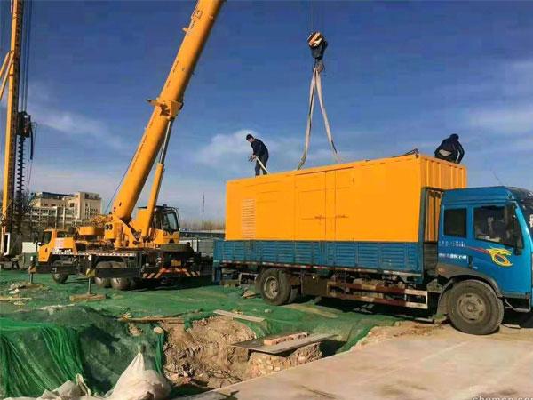 郑州万科工程建设租赁一台大型静音发电
