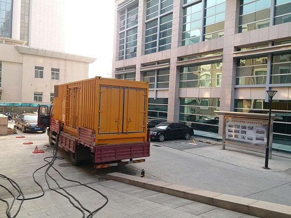郑州二七县静音发电机出租案列